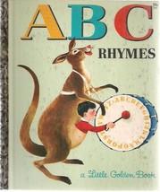 """ABC RHYMES (1964) Little Golden Book """"A"""" - $9.89"""