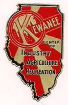 1930's KEWANEE Illinois  vintage unused souvenir sticker  - $9.89