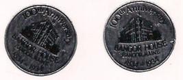 1934 BANGOR HOUSE, MAINE pair of vintage unused gummed anniversary stickers - $9.89