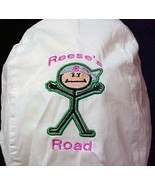 Reese's Road Green Stickman White Hat Headcover Brain Cancer Patients New - $15.81