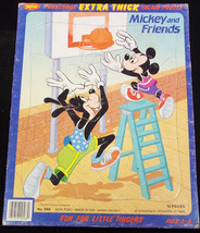 """MICKEY AND FRIENDS (1960's) Jaymar 9"""" x 11-1/2"""" Frame Tray Puzzle - $9.89"""