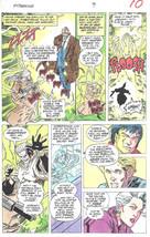 Clive Barker HYPERKIND #9 pg 7 original hand-painted color guide art 1995 signed - $24.74