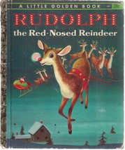 RUDOLPH THE RED-NOSED REINDEER art by Richard Scarry (1958) Little Golde... - $9.89