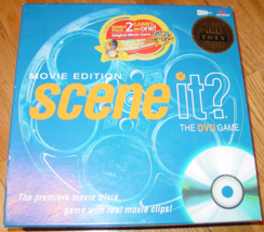 SCENE IT DVD GAME MOVIE BONUS PACK WARNER BROS TELEVISION PACK 2004 SCRE... - $20.00