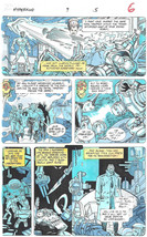 Clive Barker HYPERKIND #9 pg 5 original hand-painted color guide art 1995 signed - $24.74
