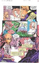 Clive Barker HYPERKIND #8 pg17 original hand-painted color guide art 1995 signed - $24.74