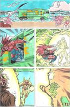 Clive Barker HYPERKIND #9 pg18 original hand-painted color guide art 1995 signed - $24.74