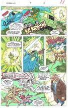 Clive Barker HYPERKIND #9 pg 8 original hand-painted color guide art 1995 signed - $24.74
