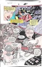 Clive Barker HYPERKIND #8 pg 9 original hand-painted color guide art 1995 signed - $24.74