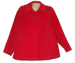 Vintage Cashmere Womens Jacket Size 8 10 Coral Wool Swing The Colonade - $24.50