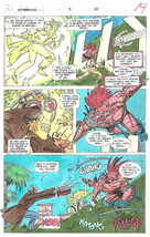 Clive Barker HYPERKIND #9 pg10 original hand-painted color guide art 1995 signed - $24.74
