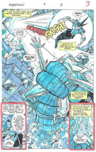 Clive Barker HYPERKIND #9 pg 3 original hand-painted color guide art 1995 signed - $24.74