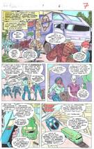 Clive Barker HYPERKIND #9 pg 6 original hand-painted color guide art 1995 signed - $24.74