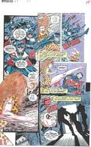 Clive Barker HYPERKIND #8 pg11 original hand-painted color guide art 1995 signed - $24.74