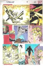 Clive Barker HYPERKIND #9 pg20 original hand-painted color guide art 1995 signed - $24.74