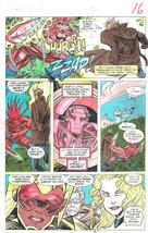 Clive Barker HYPERKIND #9 pg12 original hand-painted color guide art 1995 signed - $24.74