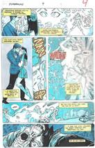 Clive Barker HYPERKIND #9 pg 4 original hand-painted color guide art 1995 signed - $24.74