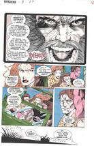 Clive Barker HYPERKIND #8 pg 7 original hand-painted color guide art 1995 signed - $24.74