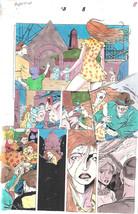 Clive Barker HYPERKIND #8 pg 8 original hand-painted color guide art 1995 signed - $24.74