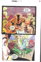 Clive Barker HYPERKIND #8 pg16 original hand-painted color guide art 1995 signed - $24.74