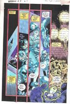 Clive Barker HYPERKIND #8 pg14 original hand-painted color guide art 1995 signed - $24.74