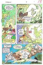 Clive Barker HYPERKIND #9 pg 9 original hand-painted color guide art 1995 signed - $24.74