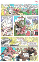 Clive Barker HYPERKIND #9 pg11 original hand-painted color guide art 1995 signed - $24.74