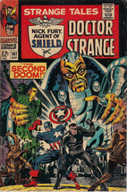 Strange Tales #161 (1967) Marvel Comics Ff & Cap Steranko Shield Adkins Vg+/F  - $29.69