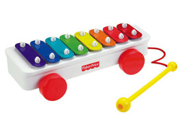 Fisher Price Brilliant Basics Classic Xylophone Musical Pull Toy Rainbow... - $11.90