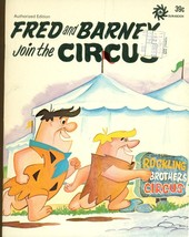 "FLINTSTONES Fred & Barney Join The Circus (1972) Unisystems ""Golden Book"" - $9.89"