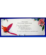 Antique Gift Tag Belated Birthday Greetings Butterfly1920s Poem - $8.00