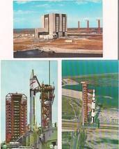 NASA lot of (3) vintage 1960s Kennedy Space Center postcards Apollo/Satu... - $9.89