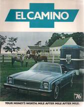 1976 CHEVROLET EL CAMINO 6-page illustrated brochure with specs - $9.89