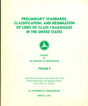 1976 U.S. DOT Preliminary Standards, Classification and Designation of R... - $12.86
