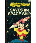 MIGHTY MOUSE Saves the Space Ship (1980) Viacom B&W comics paperback - $9.89