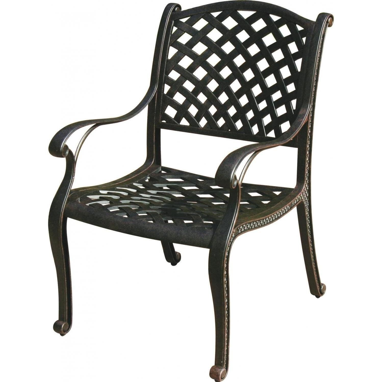 Patio Dining Chair Nassau Cast Aluminum outdoor Furniture Rust Free Bronze