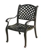 Patio Dining Chair Nassau Cast Aluminum outdoor Furniture Rust Free Bronze - $210.87