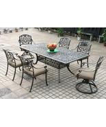 Patio dining set 7PC Elisabeth cast aluminum outdoor furniture rust-free... - $1,887.01