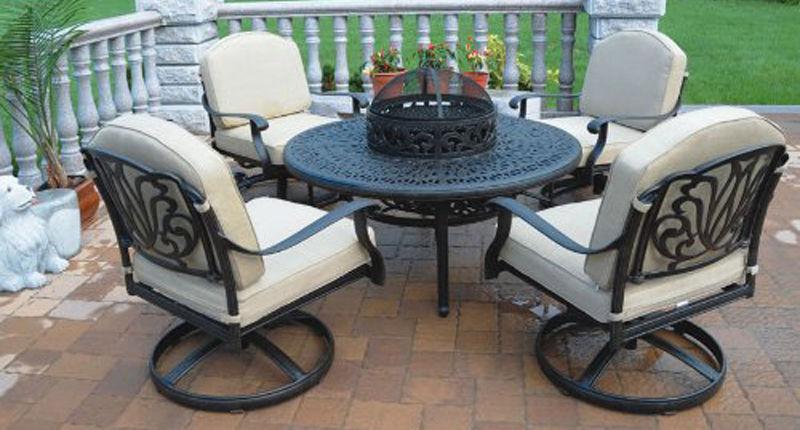 Outdoor Conversation Patio 5pc Deep Seating Set Elisabeth Furniture