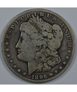 1896 S Morgan circulated silver dollar - $38.50