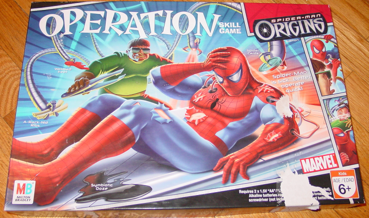 Primary image for OPERATION SKILL GAME SPIDER MAN ORIGINS 2006 MILTON BRADLEY HASBRO COMPLETE EXCE