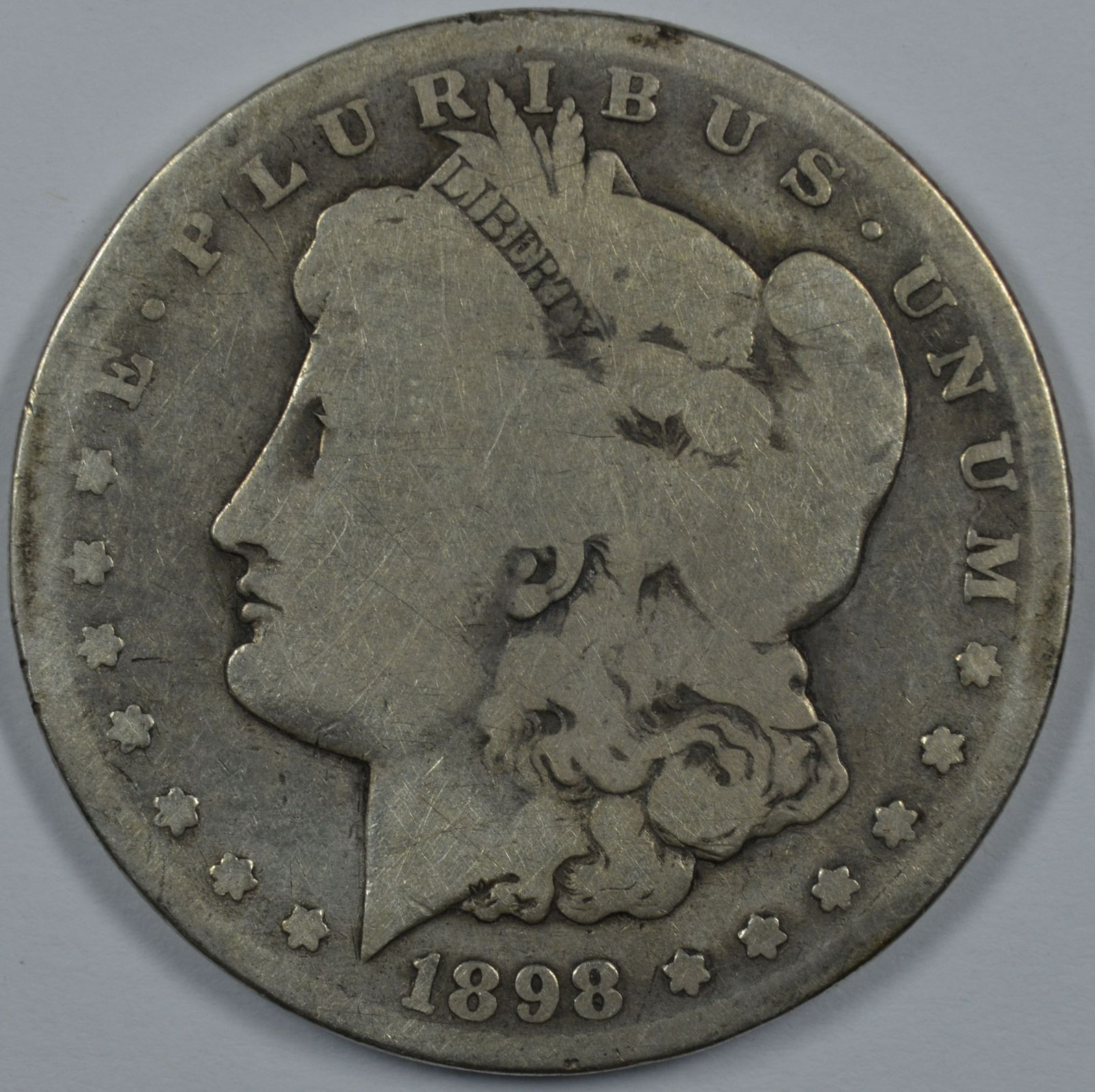 Primary image for 1898 S Morgan circulated silver dollar