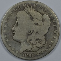 1898 S Morgan circulated silver dollar - $32.00
