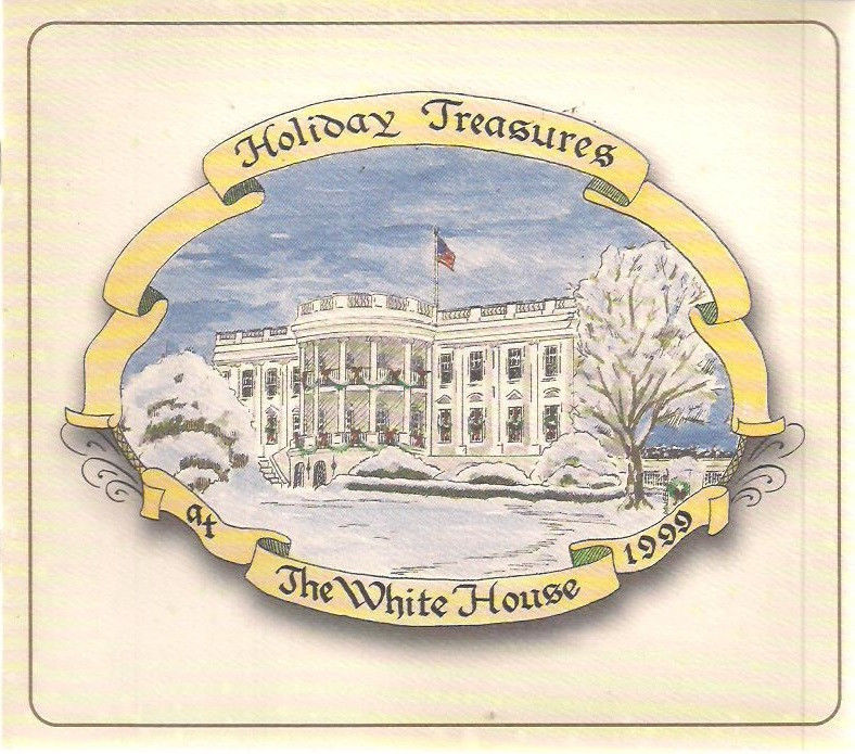 1999 HOLIDAY TREASURES AT THE WHITE HOUSE 12-pg booklet (Bill & Hillary Clinton)