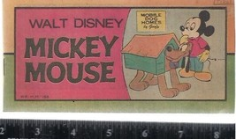 "Walt Disney MICKEY MOUSE #1 (1976) 16-page 3"" x 6-1/2"" color comic book - $9.89"