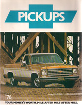 1976 CHEVROLET PICKUPS 12-page illustrated truck brochure with specs - $9.89