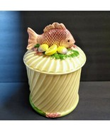 Fitz & Floyd Undersea Fish Canister Lemon Grouper Nautical Vtg Made Japan - $44.55