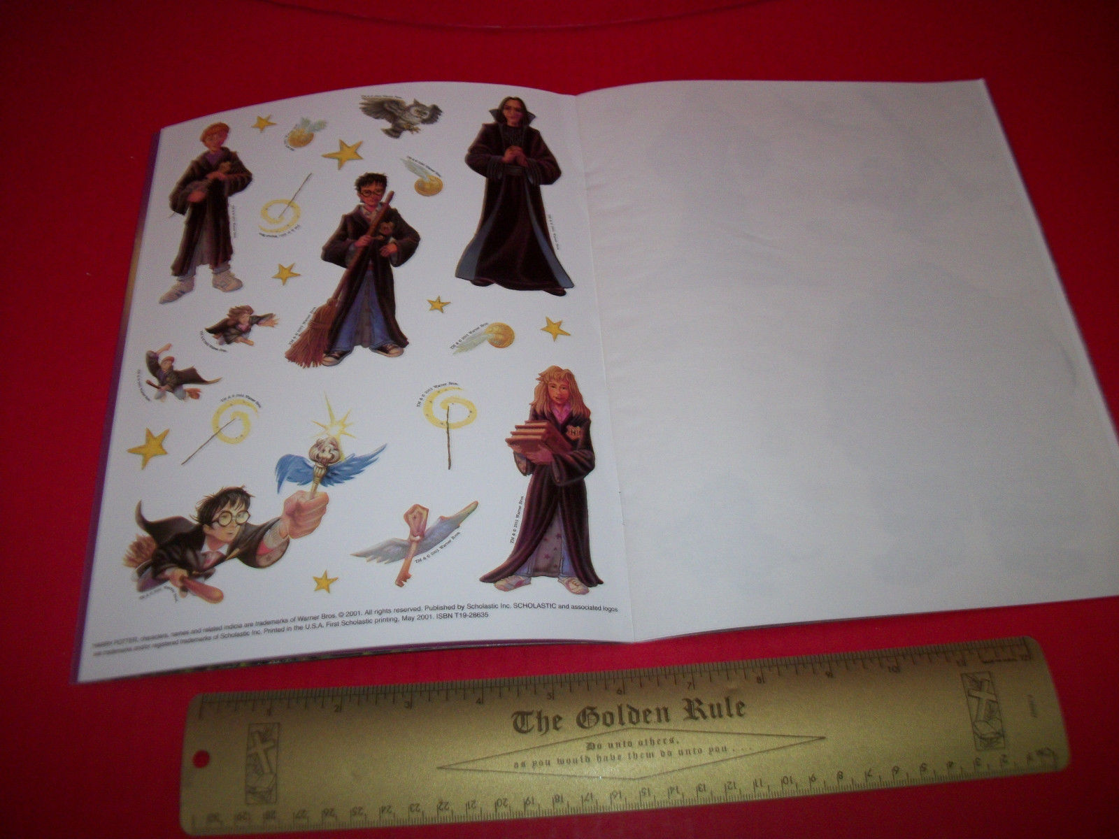 Harry Potter Craft Activity Book Flying At Hogwarts Scholastic Reusable Sticker