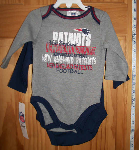 Football NFL Baby Clothes 3M 6M New England Patriots
