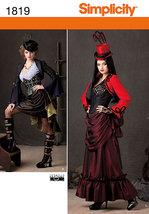 Simplicity 1819 Misses' Steampunk Victorian Era Costumes Pattern 14-22 - $12.99
